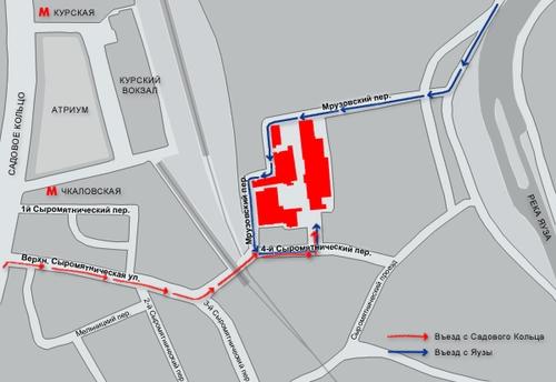 Карта проезда к заводу